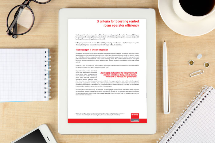 Whitepaper: 5 criteria for boosting control room operator efficiency