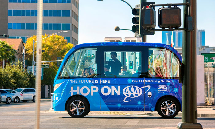 AAA and Keolis launch first public self-driving shuttle in downtown Las Vegas