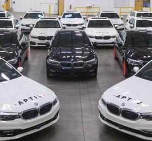 A fleet of autonomous vehicles to be used in Lyft's Las Vegas fleet