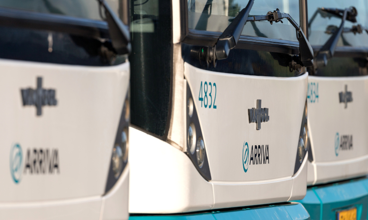 Arriva buses in the Netherlands