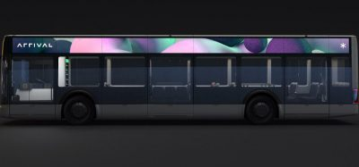 Electric bus (e-bus) manufactured by British start-up Arrival