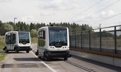 Automated buses on the streets of Helsinki generate attention