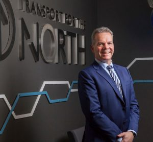 Barry White will stand down from his role at Transport for the North next year