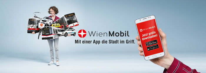 Multimodal transport access has been made available through the new Wien Mobil App