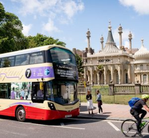 Electric bus in Brighton operated by Go-Ahead