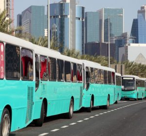 Buses in Qatar, a quarter of which will be electric by 2022