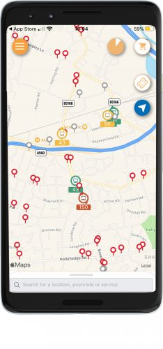 Busy Bus indicator in the Stagecoach app