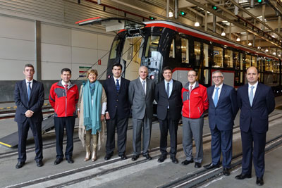 CAF delivers first Metro trainset for Santiago