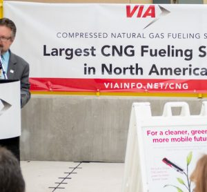 VIA opens the largest CNG fuelling station in North America
