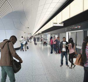 Crossrail prepares to install platform screen doors at Elizabeth line station