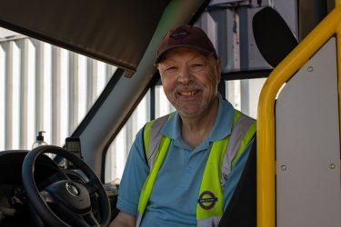 David Ahmad, a Dial-a-Ride driver