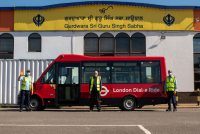 Dial-a-Ride staff with vehicle in Southall, one of the communities aided by the change in service to Dial-a-Ride