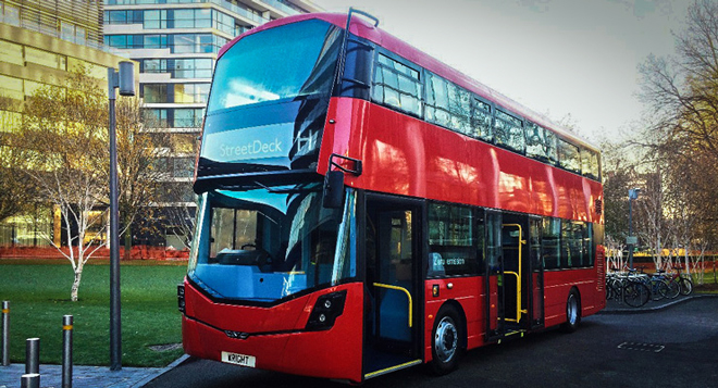 Double-decker hydrogen bus unveiled for London
