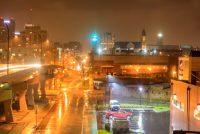 Downtown Akron in Ohio, USA