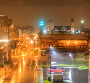 Downtown Akron in Ohio, USA