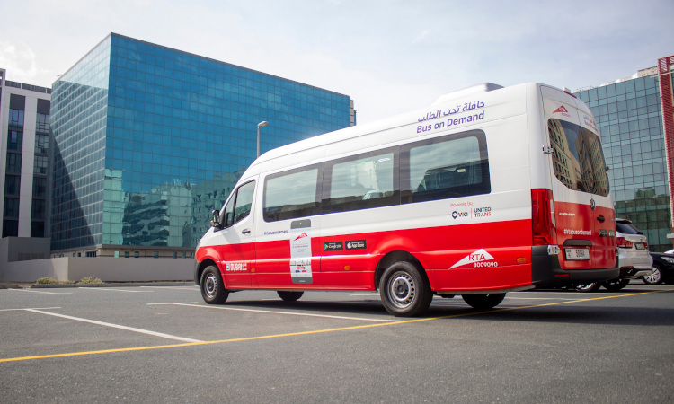 Dubai RTA Bus On-Demand service Mercedes Sprinter
