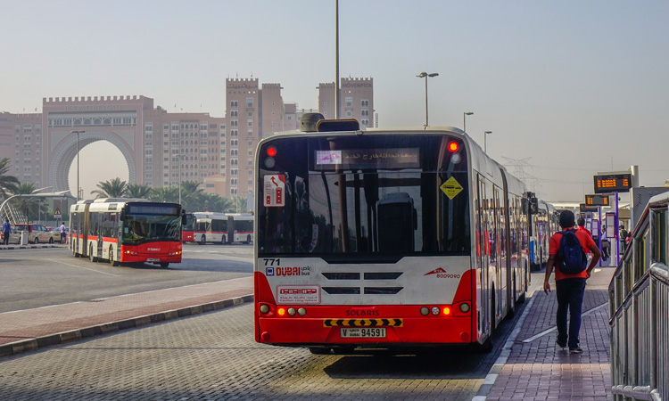 bus in Dubai