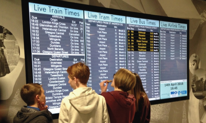 Live travel information can help passengers chose alternative routes if disruption occurs on their desired route