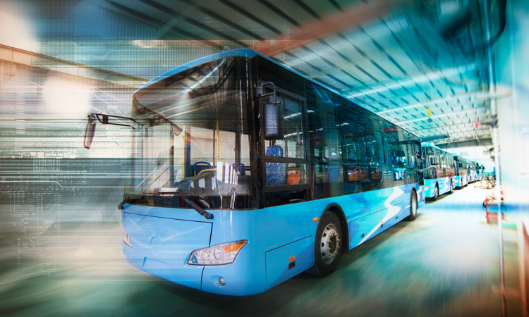 Electric bus driving