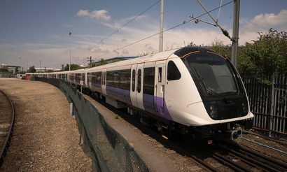 First Elizabeth line train runs on test track