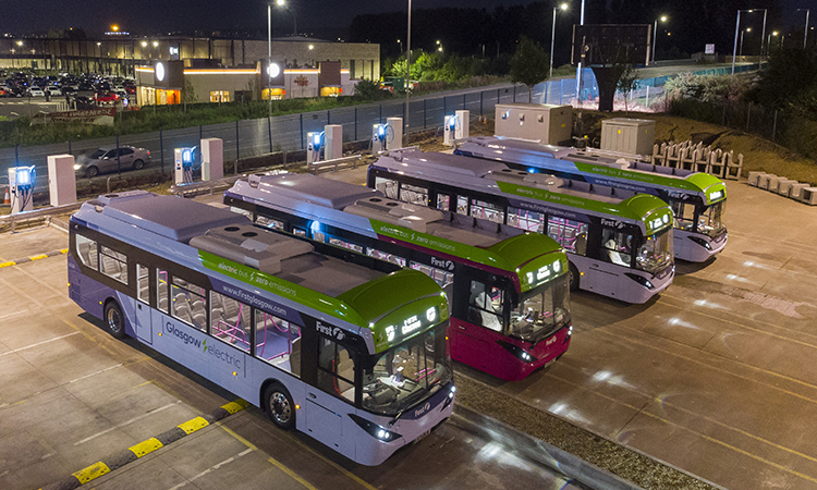 First Bus completes Phase One of UK's largest electric bus depot