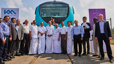 First Metropolis trainset delivered for Kochi Metro Rail