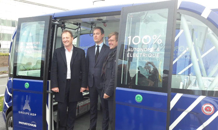 Trialling autonomous shuttles for the first time at a French airport