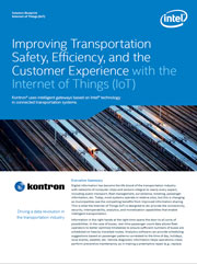 Whitepaper: Improving transportation safety, efficiency, and the customer experience with the Internet of Things (IoT)