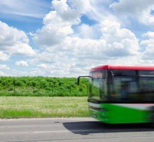 Green GET bus