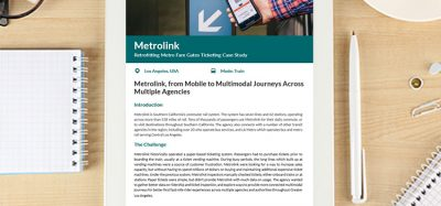 Metrolink, from mobile to multimodal journeys across multiple agencies