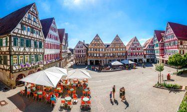 German market in city