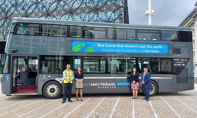 Birmingham City Council unveils first hydrogen bus