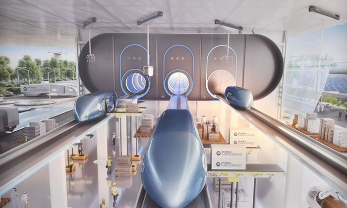 Hyperloop technology to be applied to on-demand cargo transportation