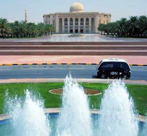 ION driverless shuttle in testing at Sharjah University City
