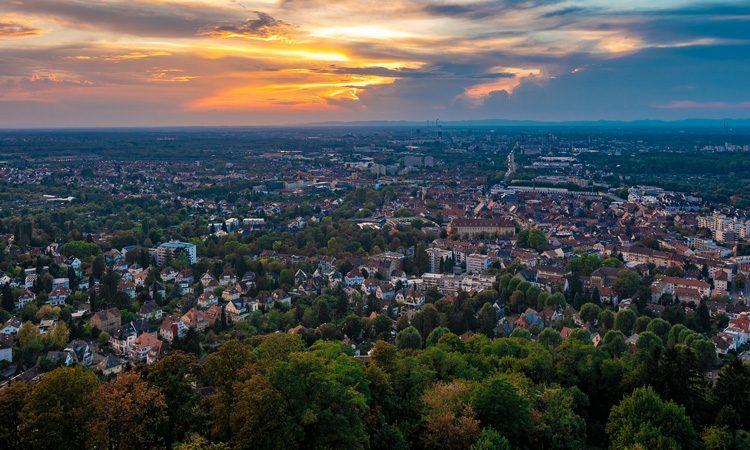 The city of Karlsruhe, home to TechnologieRegion Karlsruhe