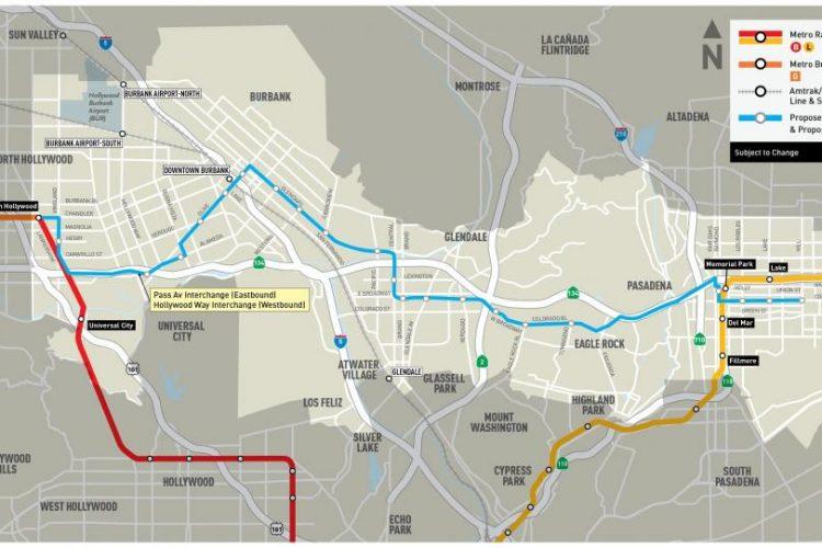 LA metro's proposed BRT line