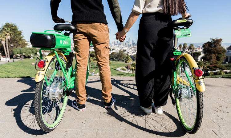 Lime bike users
