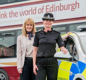 Lothian Buses and Edinburgh Trams launch police crime prevention partnership