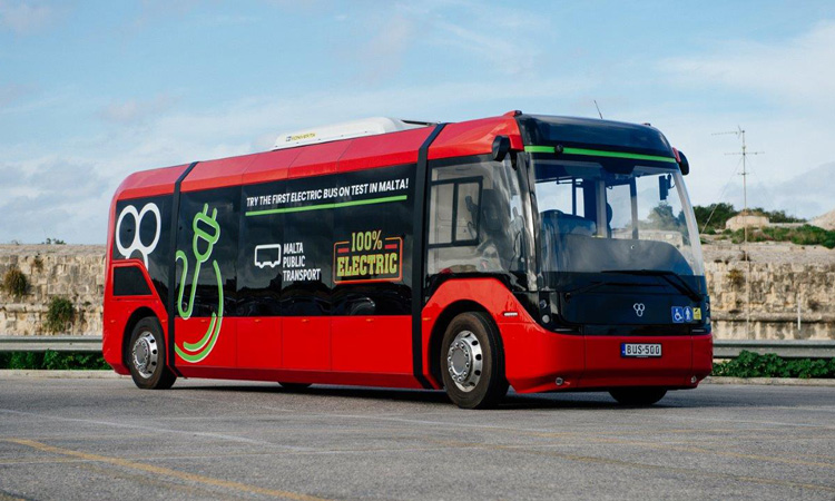 Malta Public Transport unveils first electric bus trial