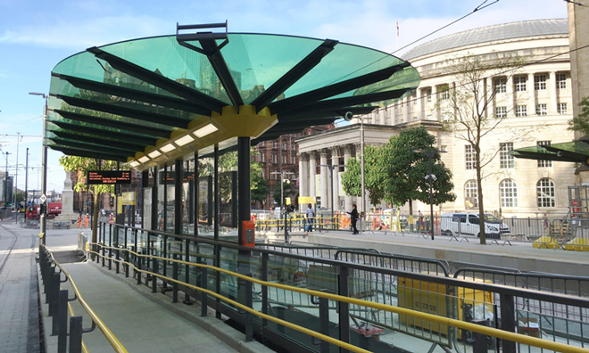 Manchester's new-look St Peter's Square stop opens to tram passengers