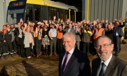 Metrolink celebrates arrival of 120th tram ahead of Second City Crossing opening