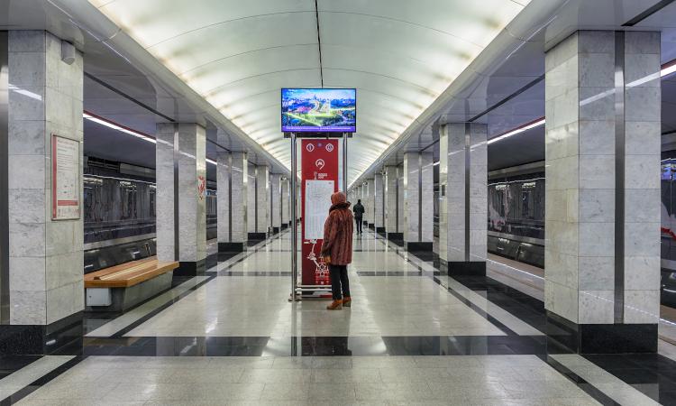 Tagansko-Krasnopresnenskaya line on the Moscow Metro