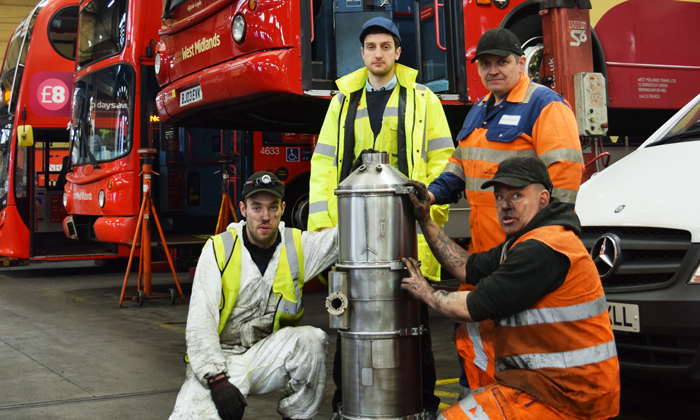 National Express West Midlands is working to make old buses greener