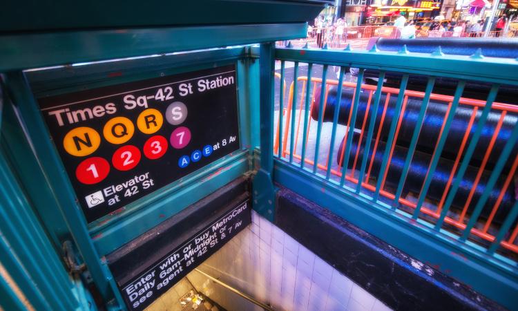 New York City MTA subway at Times Square