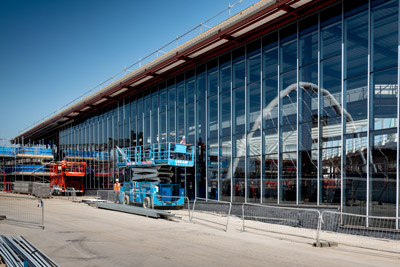 New images of Bolton Interchange display build progress