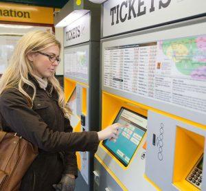 New train ticket machine