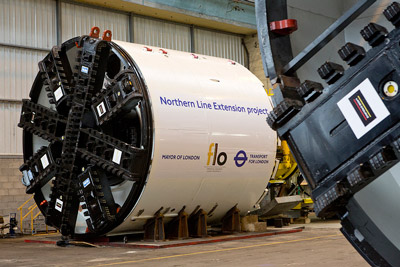 650 tonne Northern Line Extension tunnel boring machines unveiled