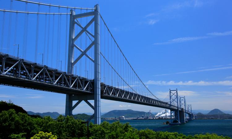 Seto Bridge in Okayama Prefecture