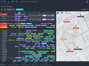 Optibus On-Time Gantt Chart & Map