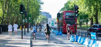 Cyclists on London's Park Lane